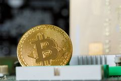 Handel van Cryptoinvestment van de Bitcoin de Digitale Munt stock foto's
