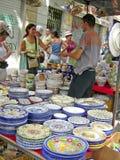 Handel von Keramik stockbilder