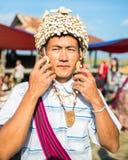 Handel voor de inwoners van Birma Stock Foto's