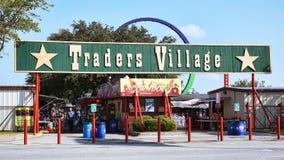 Handelarendorp in Grote Prairie, Texas wordt gevestigd dat Stock Foto's