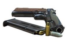 HandeldvapenColt med kulor royaltyfri foto