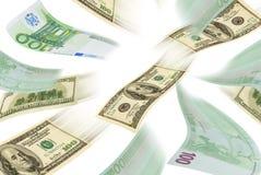 Handeleuro-dollar. Royaltyfria Bilder