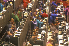 Handelgolv av det Chicago brädet av handel, Chicago, Illinois Arkivfoto