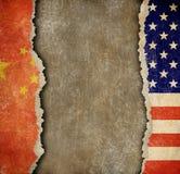 Handelkrig mellan Kina och USA Arkivfoto