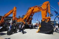 Handelmässa för byggande maskiner Royaltyfria Bilder