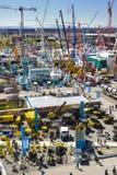 Handelmässa för byggande maskiner Arkivbilder