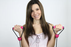 Handeln der jungen Frau aerob Stockfoto
