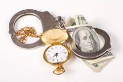 Handeln der Zeit für Geld Stockfoto