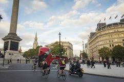Handeln Sie auf Straße in der Stadt von London Großbritannien Stockfotografie