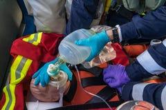 Handeln von CPR Lizenzfreie Stockfotos