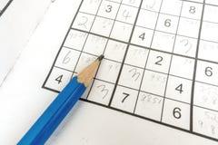 Handeln von sudoku Lizenzfreie Stockfotografie