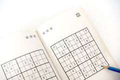 Handeln von sudoku Stockbilder