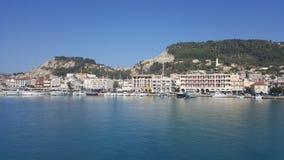Handelport, sändnings, Zakynthos, Grekland Royaltyfri Fotografi