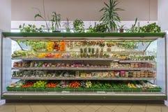 Handelrum av supermarket Royaltyfria Bilder