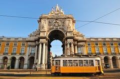 Handels-Quadrat, Lissabon Lizenzfreie Stockfotos