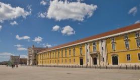 Handels-Quadrat, Lissabon Stockbild