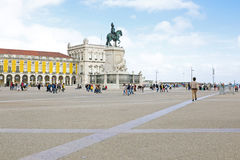 Handels-Quadrat in Lissabon, Portugal Lizenzfreie Stockfotografie