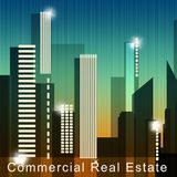 Handels-Real Estate bedeutet Illustration des Eigentums-Verkaufs-3d Stockfotos