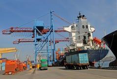 Handels  Seehafen Stockbild