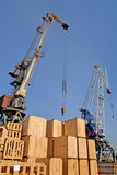Handels  Seehafen Stockfoto