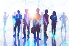Handels-, Sitzungs- und Statistikkonzept stockfoto