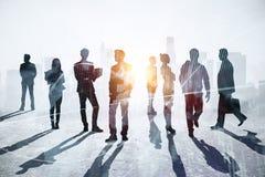 Handels-, Sitzungs- und Teamwork-Konzept lizenzfreie stockfotos