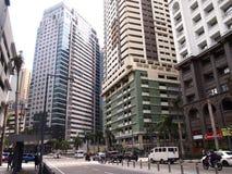 Handels- und Wohngebäude am Ortigas-Komplex Stockfoto