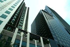 Handels- und Wohngebäude des hohen Aufstieges Stockfoto