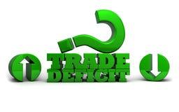 Handelsdefizit - erhöhend oder verringernd Stockbild