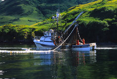 Handelsfischerboot Stockbilder