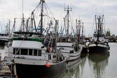 Handelsfischerboote Stockfotografie