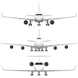 Handelsflugzeug Lizenzfreies Stockfoto