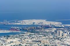 Handelshafen Dubai stockbild