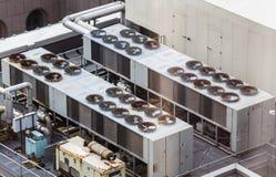 Handelsheizung und Kühlsystem Stockfotos