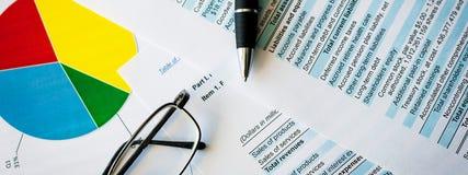 Handelsinvesteringenmarktonderzoek businessplan en Financiële Planning stock afbeeldingen
