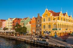 Handelskade em Willemstad Curaçau fotos de stock