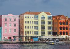Handelskade waterfront - Walking around Otrobanda City Centre   Curacao Views Stock Images
