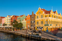 Handelskade at Willemstad Curacao stock photos