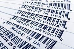 Handelskonflikt stockbilder