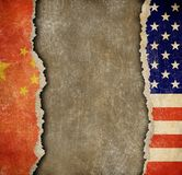Handelskonflikt zwischen China und USA Stockfoto