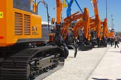 Handelsmesse für errichtende Maschinen Stockfotos