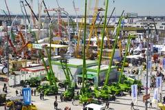 Handelsmesse für errichtende Maschinen Stockbild