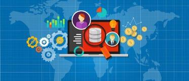 Handelsnachrichten-Datenbankanalyse Lizenzfreie Stockfotos