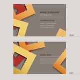 Handelsname-Kartenschablone Stockbild