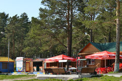 Handelspavillons im Park Redaktionelles Bild Stockfoto