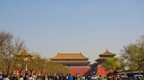 handelsresande i den Forbidden City Peking Arkivfoto