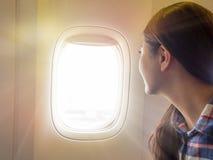 handelsresande i flygplanet Royaltyfria Bilder