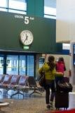 Handelsresande i flygplats Arkivfoto