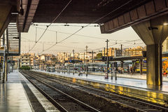 Handelsresande i St Charles drevstation i Marseilles Fotografering för Bildbyråer