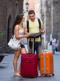Handelsresande med bagage Royaltyfri Foto